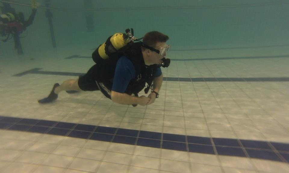 scuba diver learning