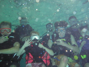 The club underwater