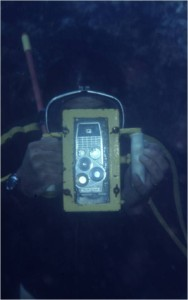 A homemade underwater camera.