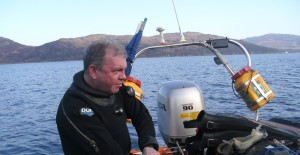A Diver at the Kyle of Lochalsh